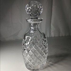 "Waterford crystal decanter/bar ware ""Alana"""